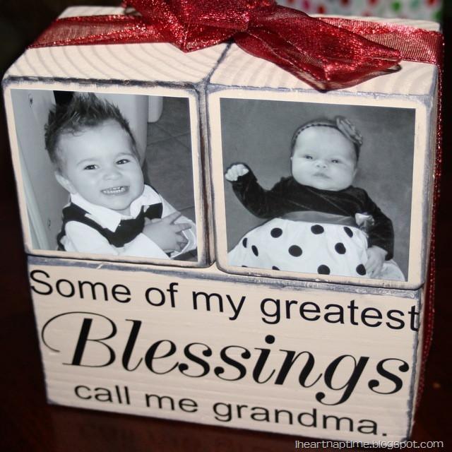 Christmas Gift Ideas For Grandma  Gift Idea Grandma Blocks I Heart Nap Time