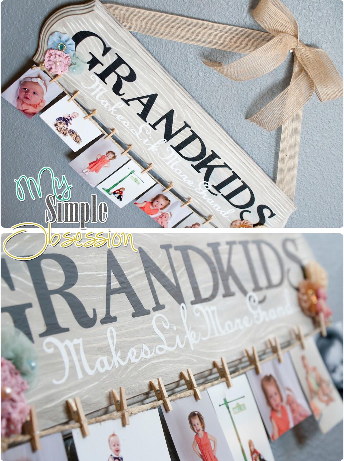 Christmas Gift Ideas For Grandma  My Simple Obsession Family Spotlight Display Tutorial