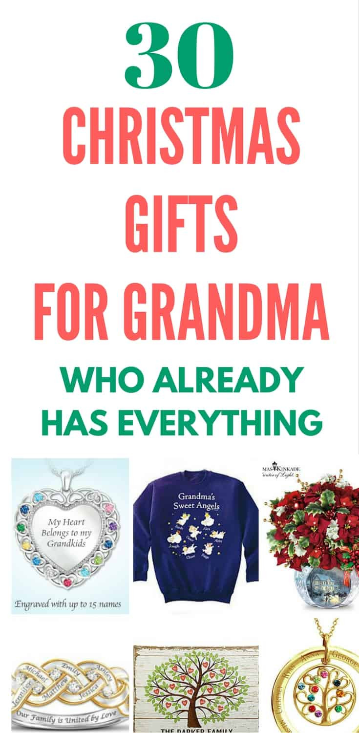 Christmas Gift Ideas For Grandma  What to Get Grandma for Christmas Top 20 Grandmother
