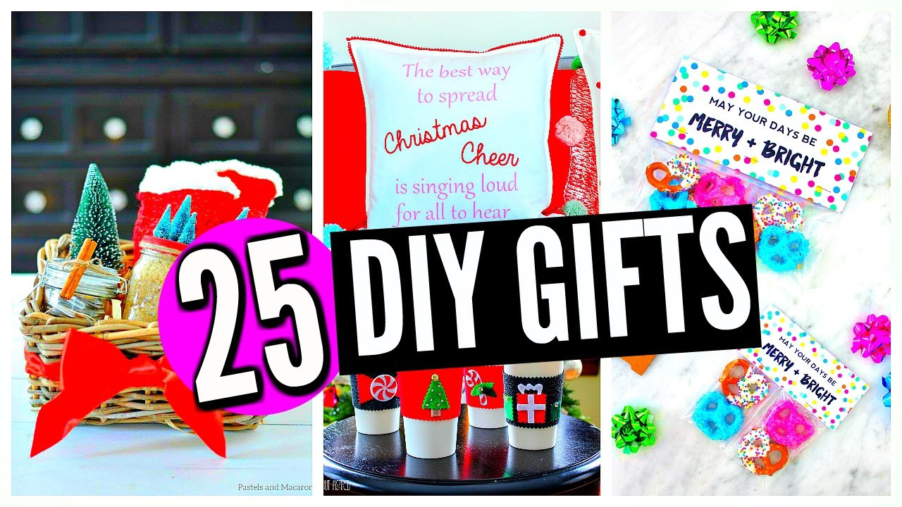 Christmas Gift Ideas For Moms And Dads  25 DIY Christmas Gifts For Friends Family Boyfriend