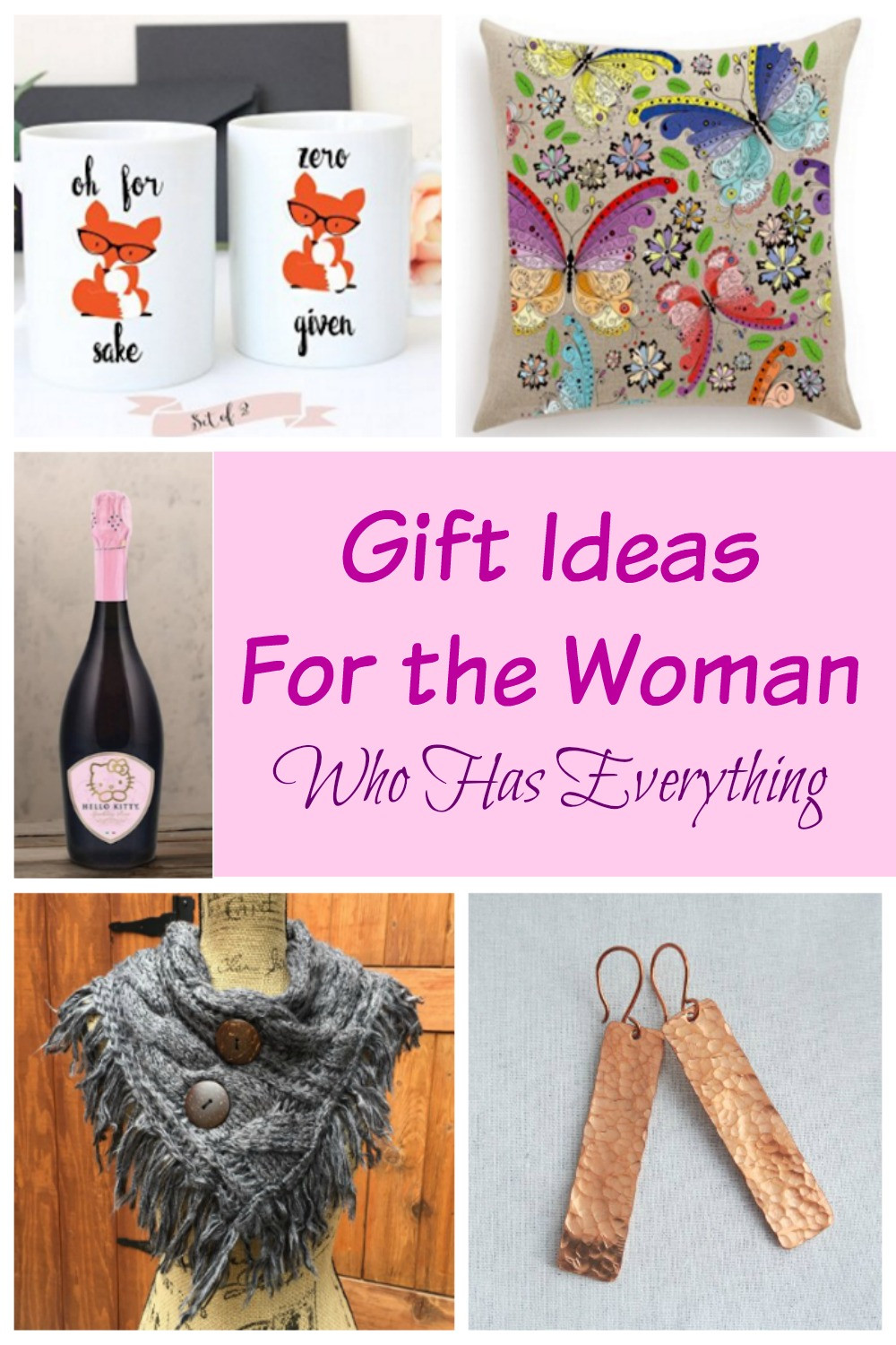 Christmas Gift Ideas For Woman Who Has Everything  Gift Ideas For The Women Who Has Everything