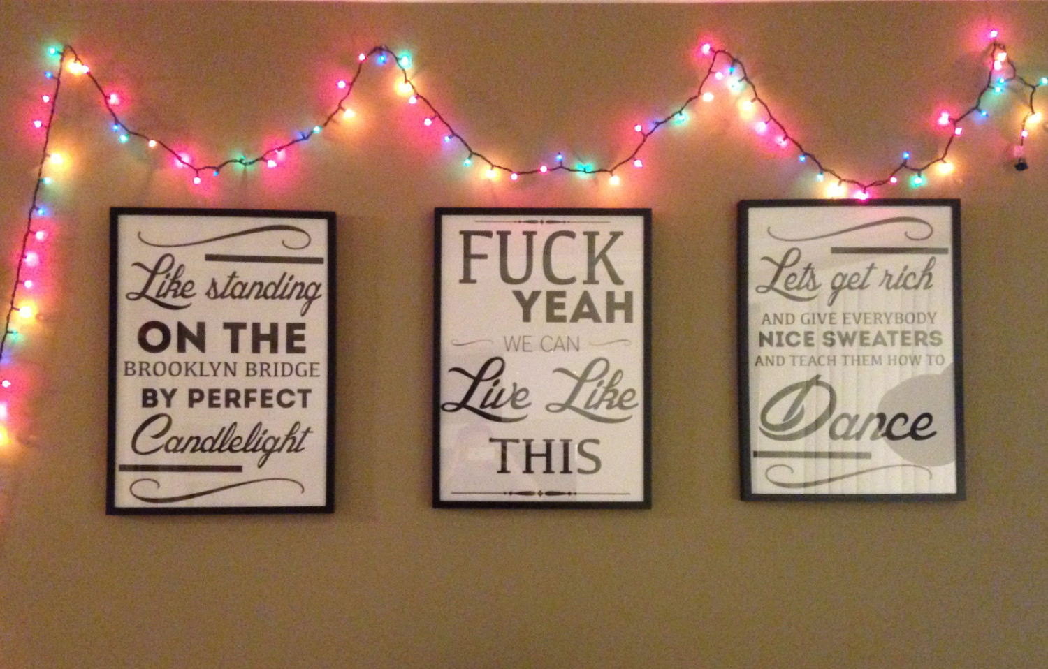 Christmas Gift Ideas For Your Best Friend  Quote Art Song Lyrics and Movie Quote Typography by