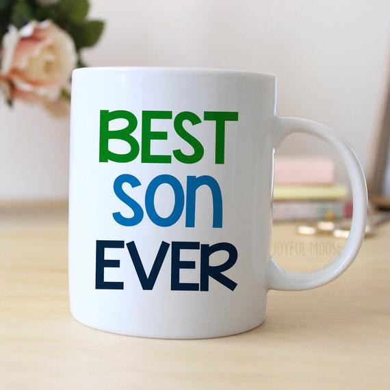 Christmas Gift Ideas Son  Best Son Ever Coffee Mug Christmas Gift for Son by JoyfulMoose