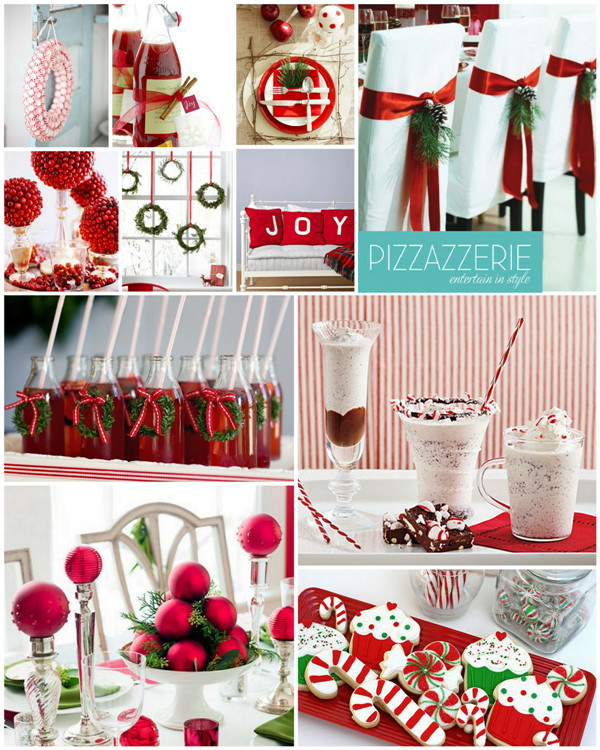 Christmas Holiday Party Ideas  Peppermint Christmas Red & White Party Ideas Party Ideas
