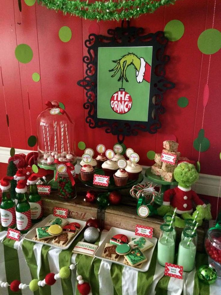 Christmas Holiday Party Ideas  Best 25 Grinch party ideas on Pinterest