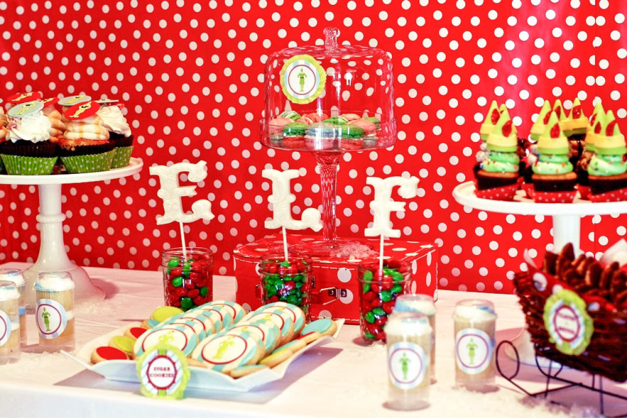 Christmas Holiday Party Ideas  Buddy the Elf Themed Brunch Party by Deliciously Darling