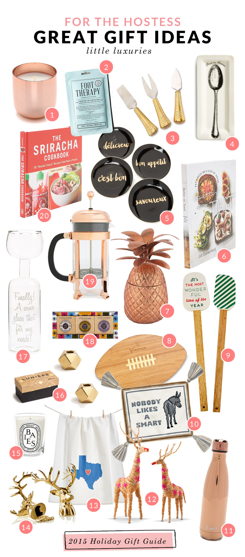 Christmas Hostess Gift Ideas  Holiday Gift Guide Ideas for the Host & Hostess corals