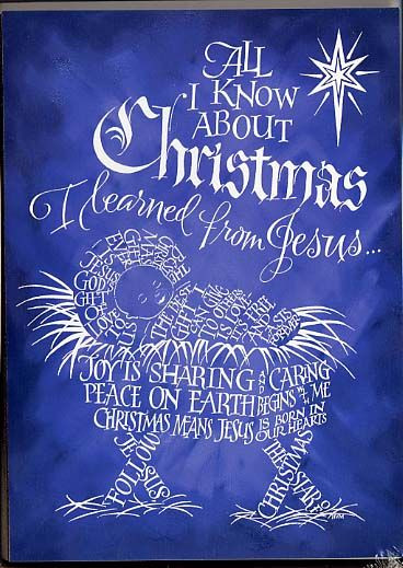 Christmas Jesus Quote  All I Know About Christmas