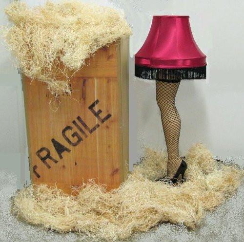 Christmas Leg Lamp Full Size  Red Shade Christmas leg lamp Full Size Ships in a