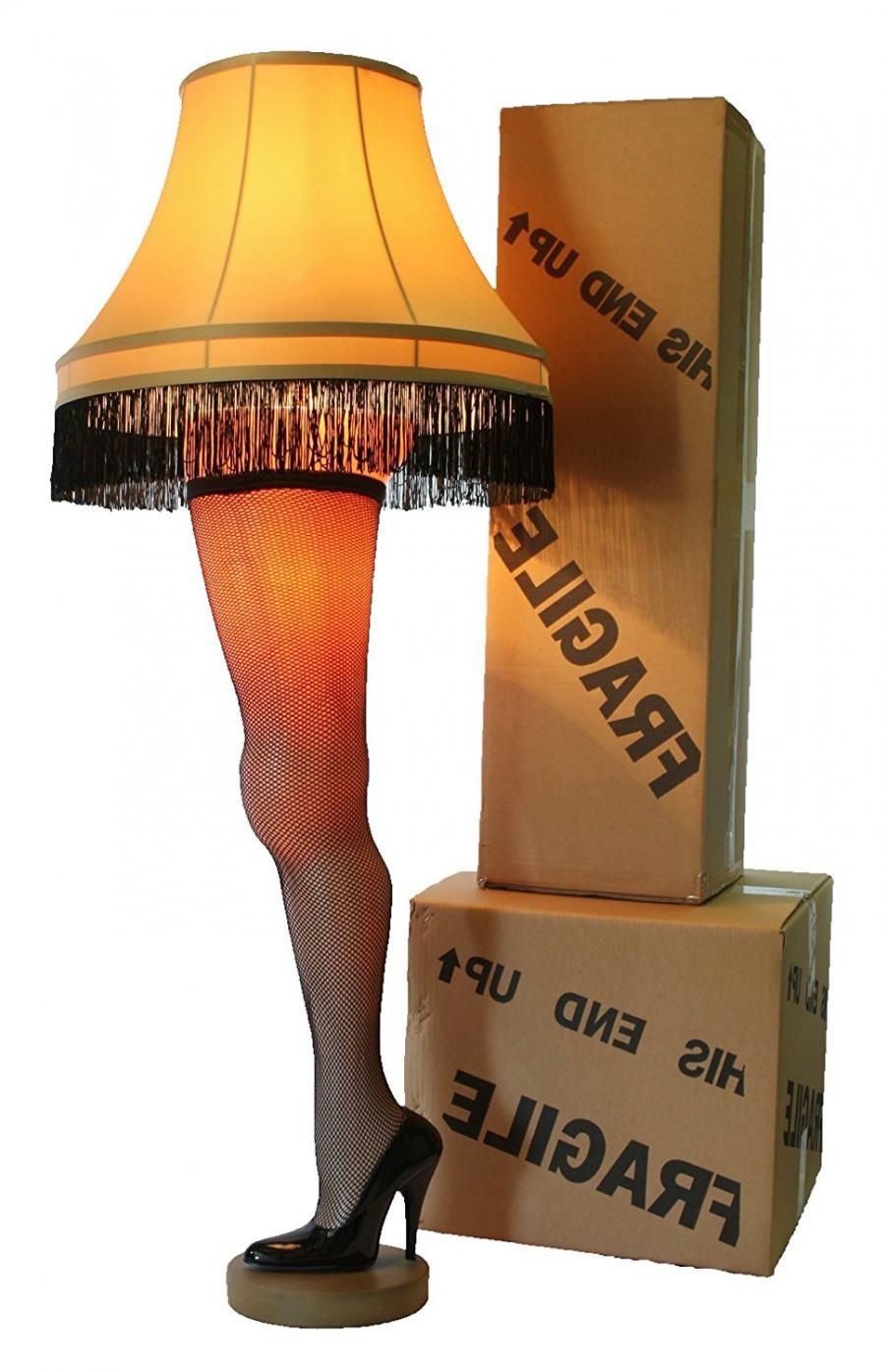 Christmas Leg Lamp Full Size  Amazon A Christmas Story Deluxe Full Size 50