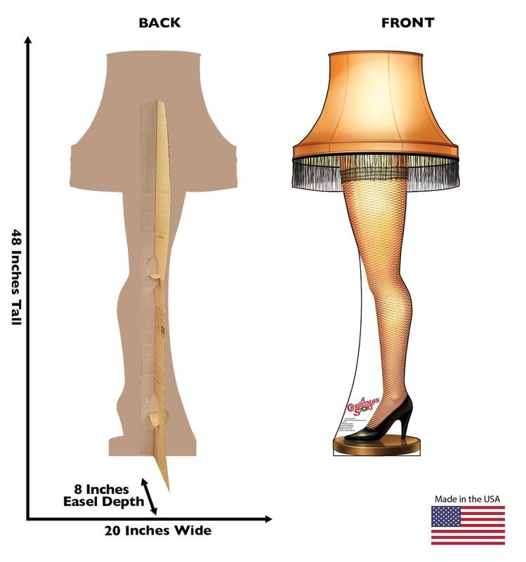 Christmas Leg Lamp Full Size  Life size Leg Lamp A Christmas Story Cardboard Standup