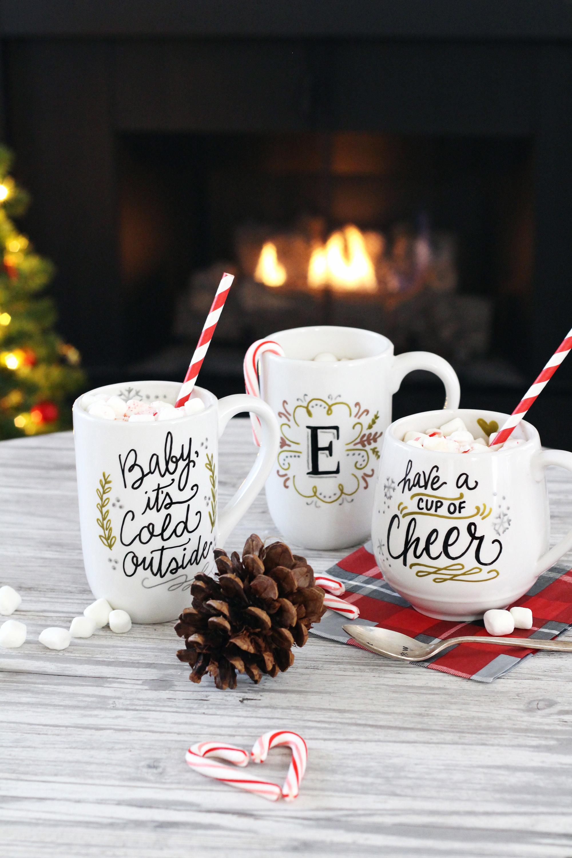 Christmas Mug Gift Ideas  DIY Mug Gifts Using PaintedByMe Bake At Home Ceramics