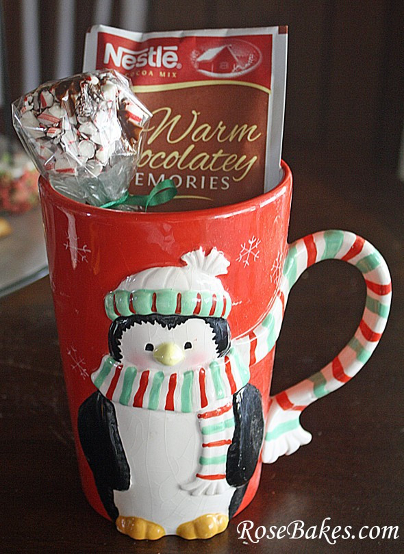 Christmas Mug Gift Ideas  Peppermint Marshmallow Dips for Hot Chocolate Great Gift