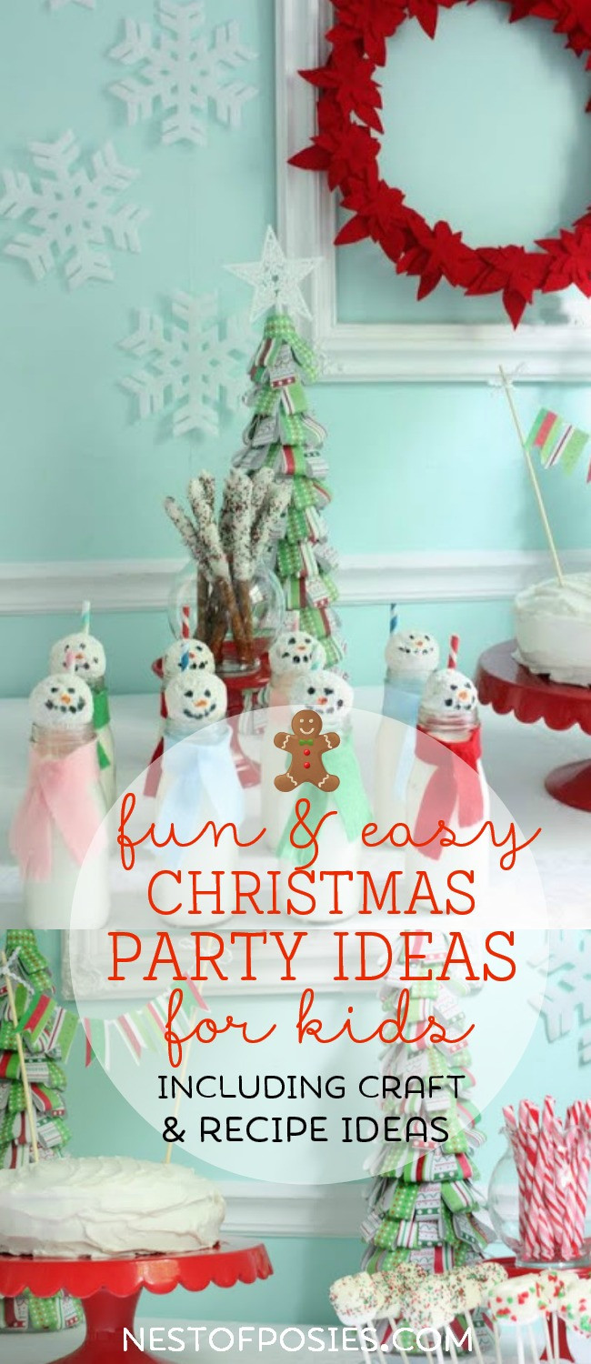 Christmas Party Ideas For Toddler  Christmas Party Tablescape ideas for kids Nest of Posies