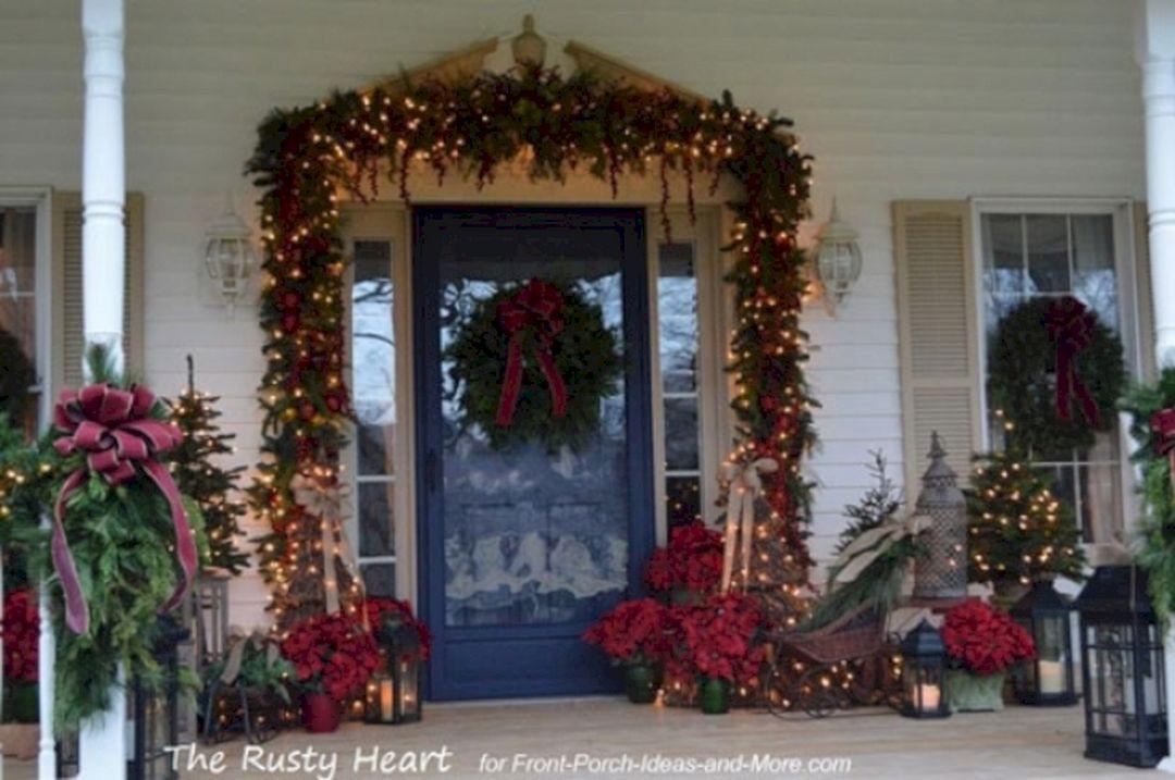 Christmas Porch Decor  Front Porch Christmas Decorating Ideas Front Porch