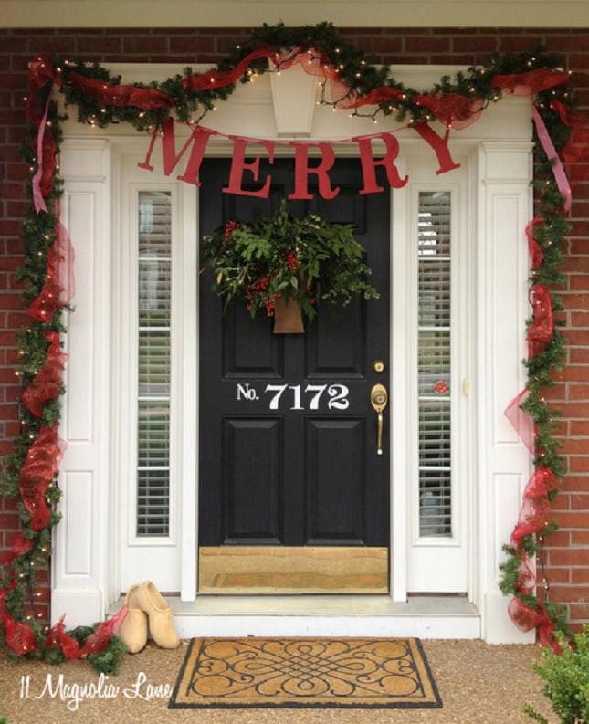 Christmas Porch Decor  FRONT PORCH CHRISTMAS DECOR