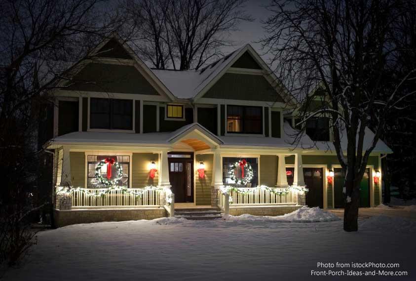 Christmas Porch Decor  Outdoor Christmas Decorations Bring Holiday Joy