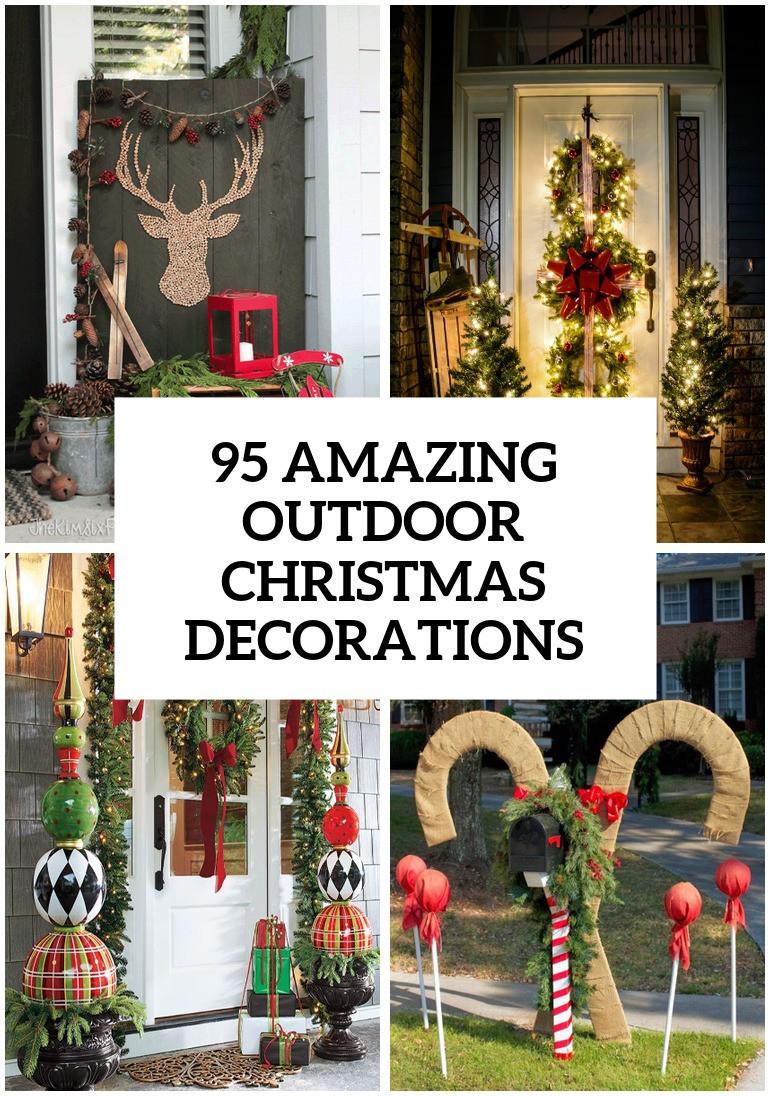 Christmas Porch Decor  95 Amazing Outdoor Christmas Decorations DigsDigs
