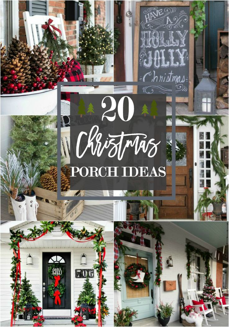 Christmas Porch Decor  Best 25 Christmas front porches ideas on Pinterest