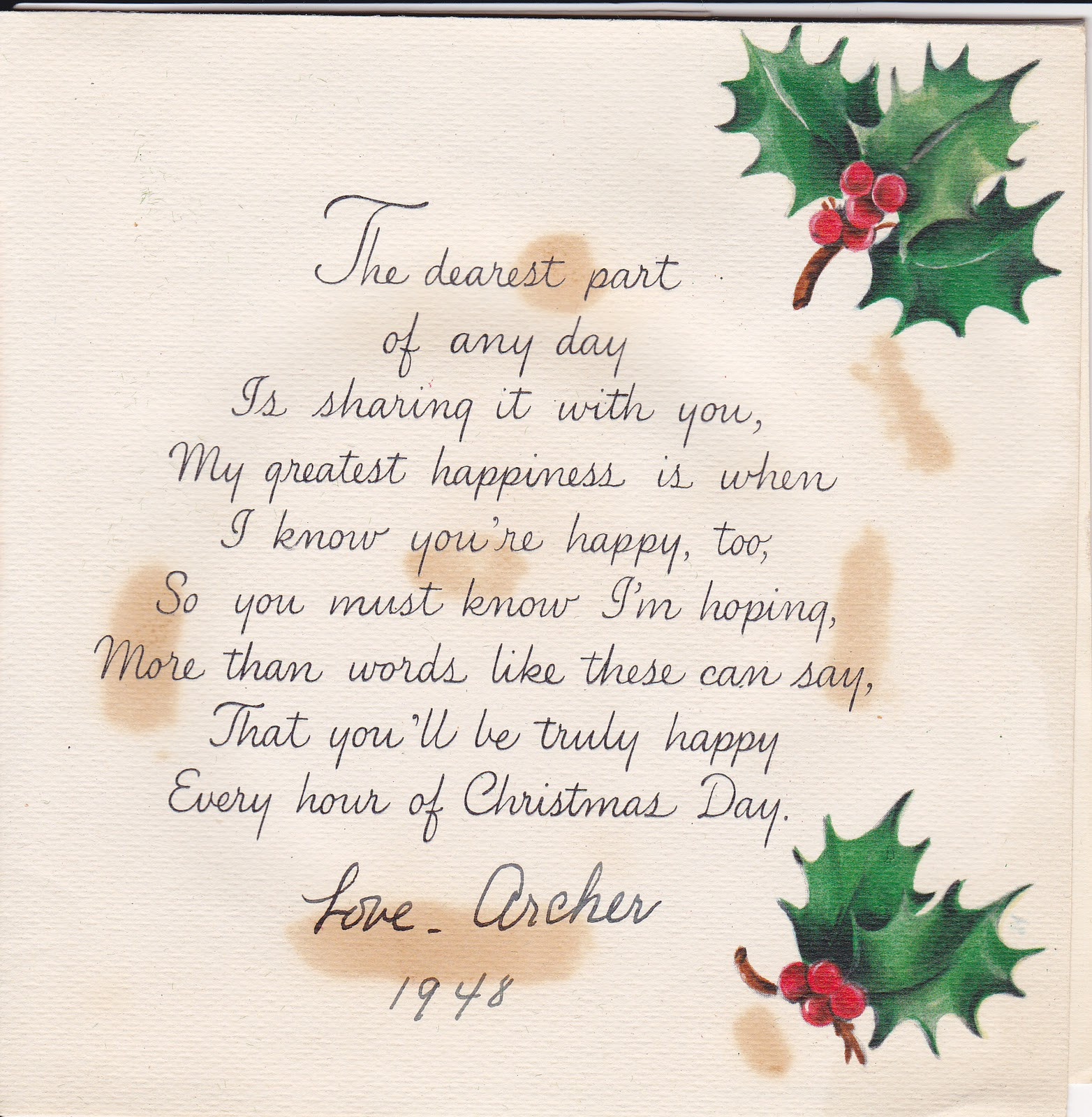 Christmas Quotes For Cards  Madeline s Memories Vintage Christmas Cards