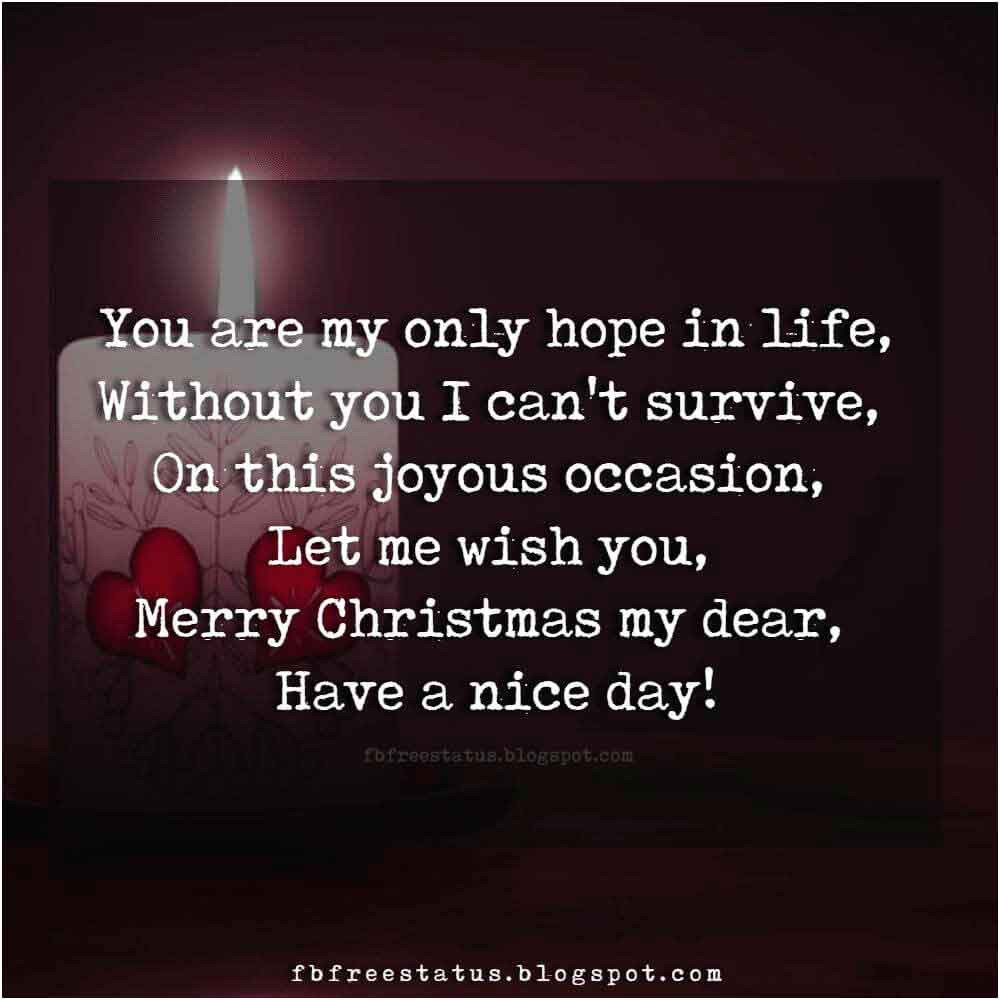Christmas Quotes For Her  Christmas Love Quotes for Boyfriend and Girlfriend with