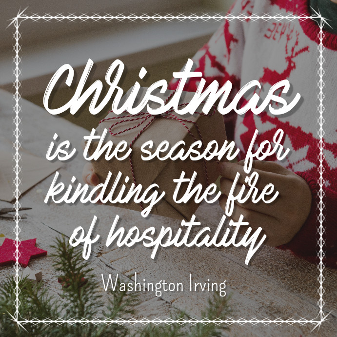 Christmas Quotes For Instagram  Christmas Season Quote Instagram Post Template