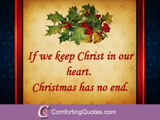 Christmas Quotes Religious  Christmas Quote about Christ