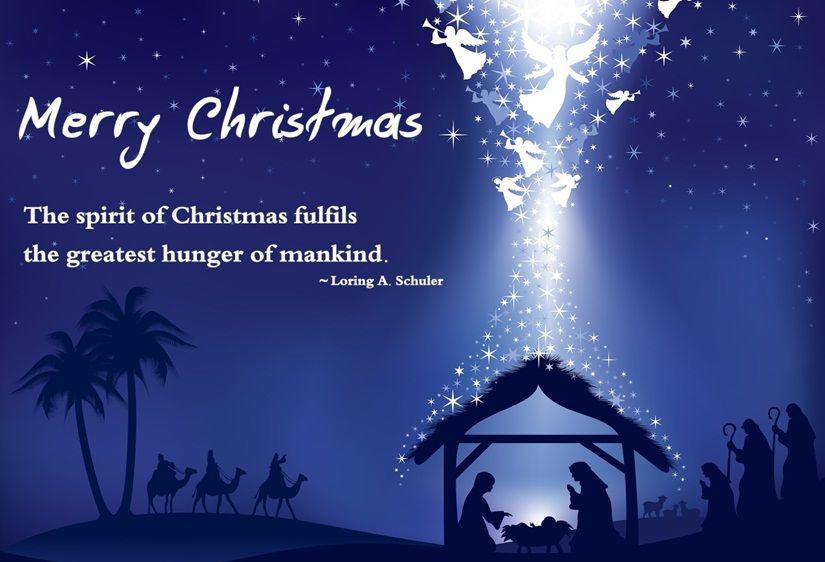 Christmas Quotes Religious  Merry Christmas The Spirit Christmas Fulfills The