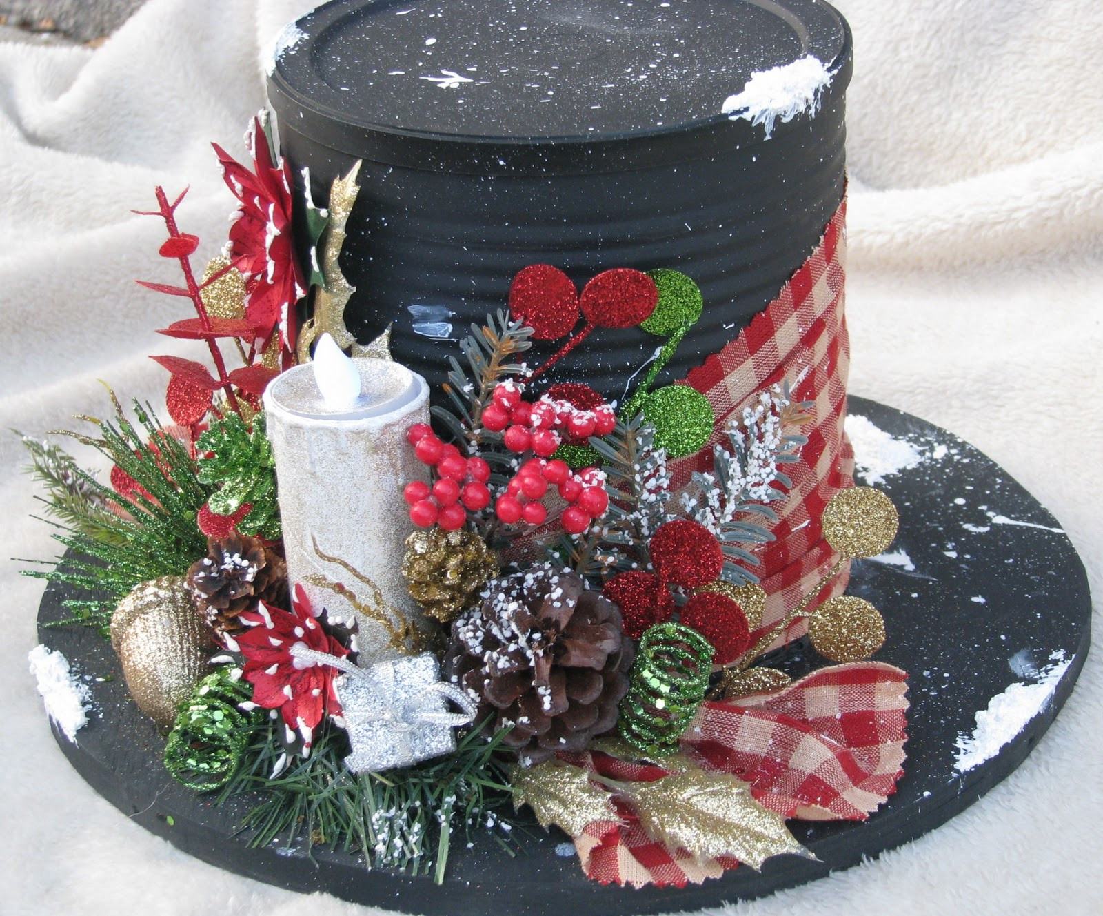 Christmas Rooftop Decorating Ideas  Stars N Sparkles Blooms N Bling Snowman Hat ts