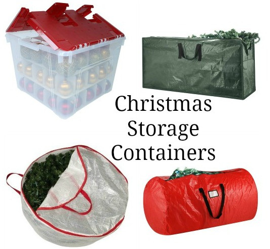Christmas Storage Bins  one hundred dollars a month
