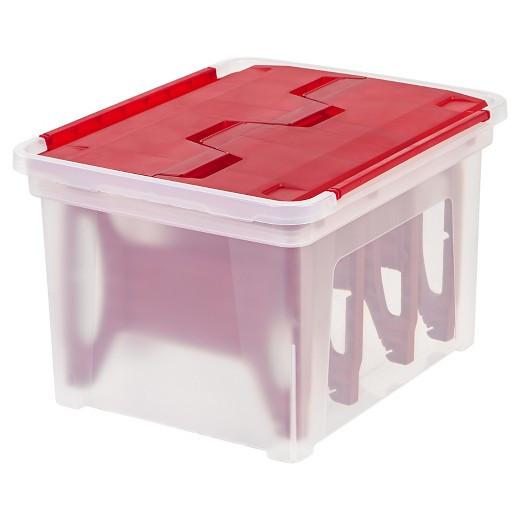 Christmas Storage Bins  IRIS Christmas Light Storage Box with 4 Light Wraps Tar