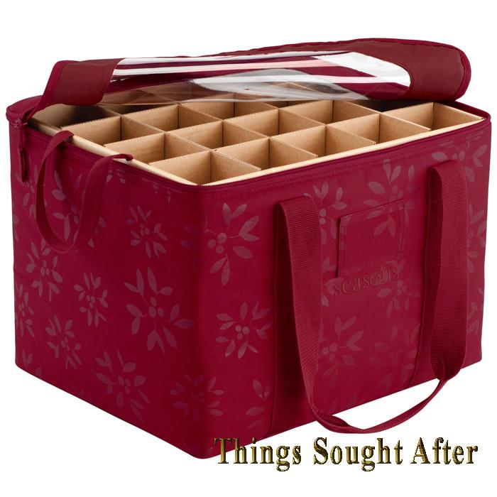Christmas Storage Bins  ORNAMENT ORGANIZER Christmas Holiday Container Holder Box