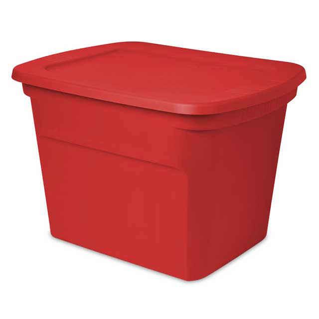 Christmas Storage Bins  Sterilite 18 Gallon Red Storage Tote 8 Pack