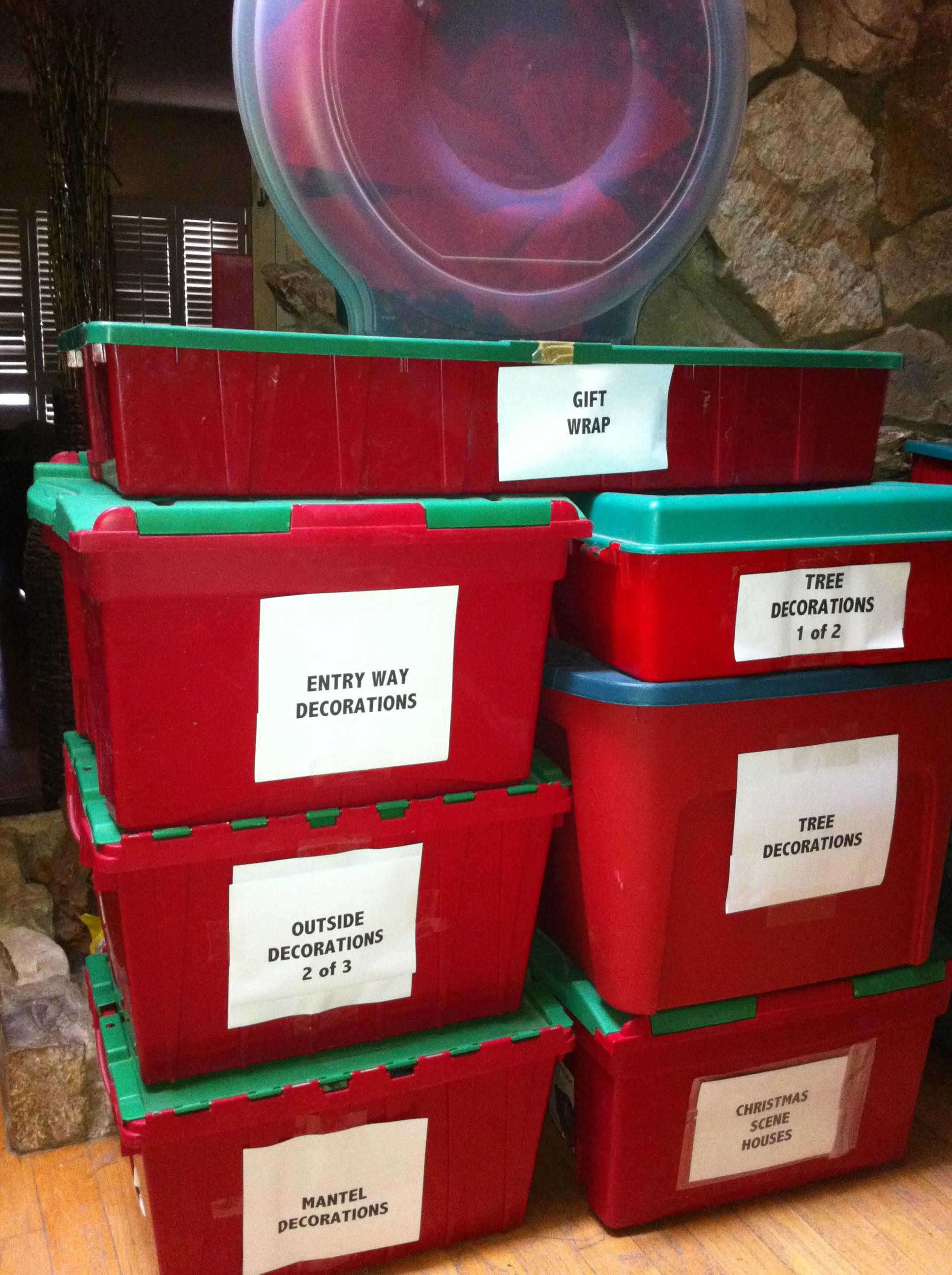 Christmas Storage Bins  Christmas Decoration Storage