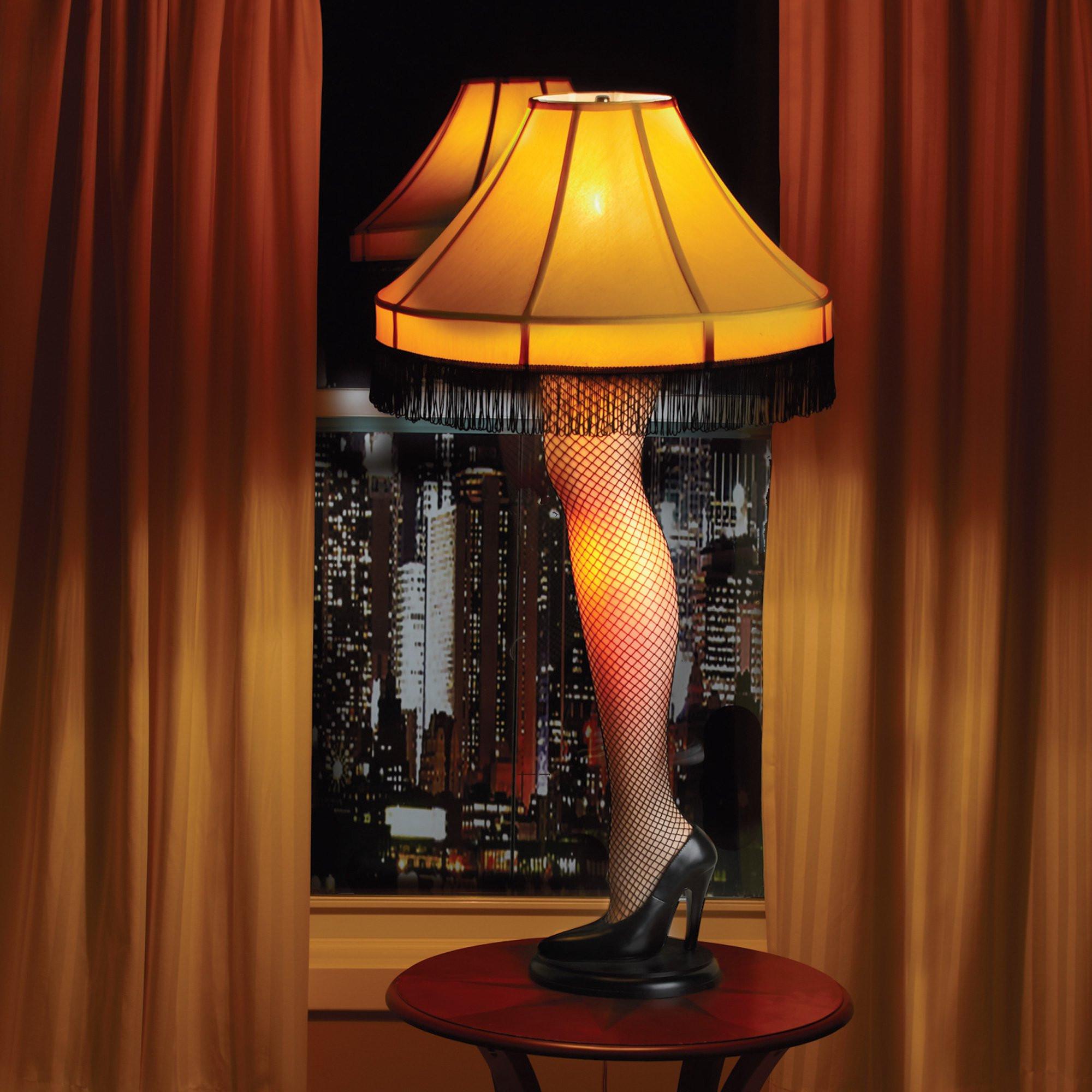 Christmas Story Desktop Leg Lamp  Amputated Leg Lamp WARNING Creepy