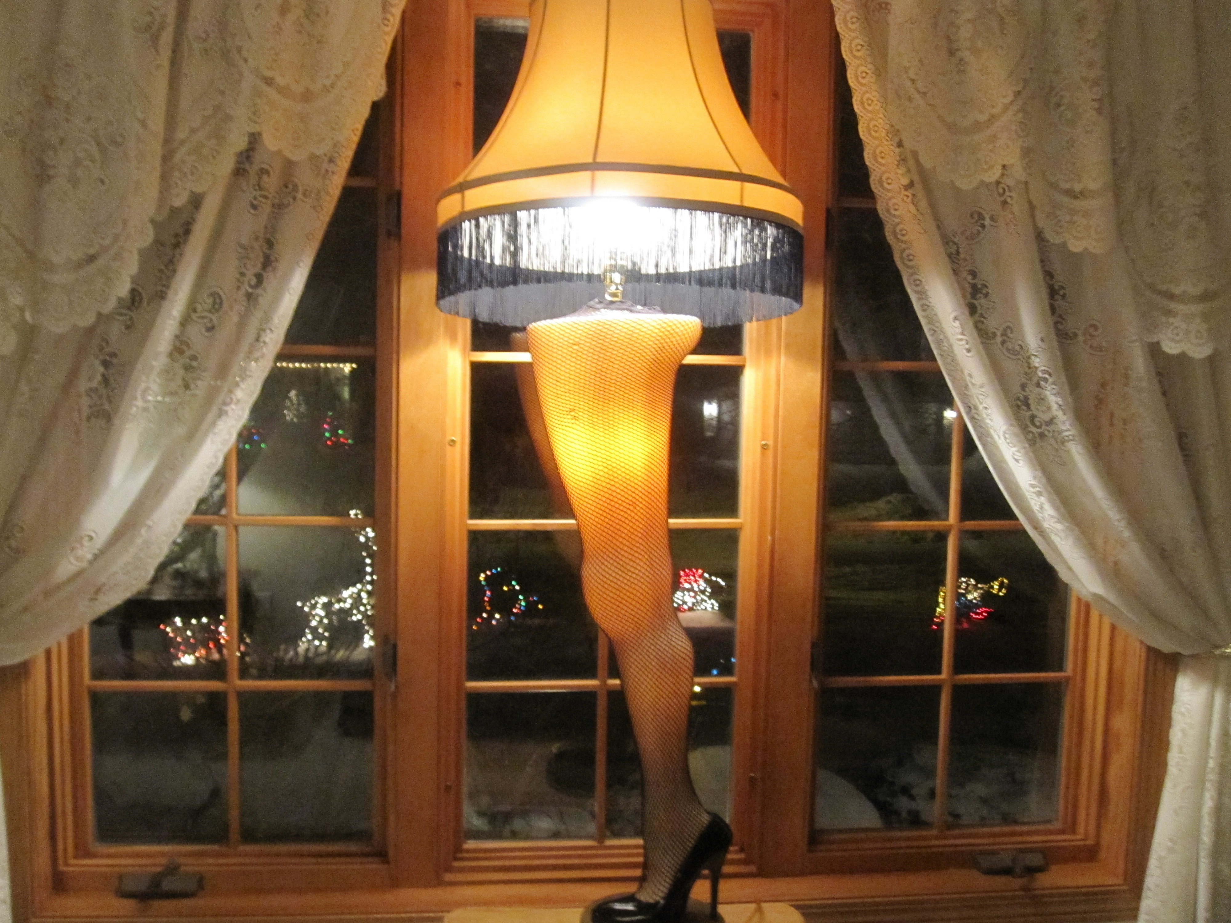 Christmas Story Desktop Leg Lamp  Glory Zig