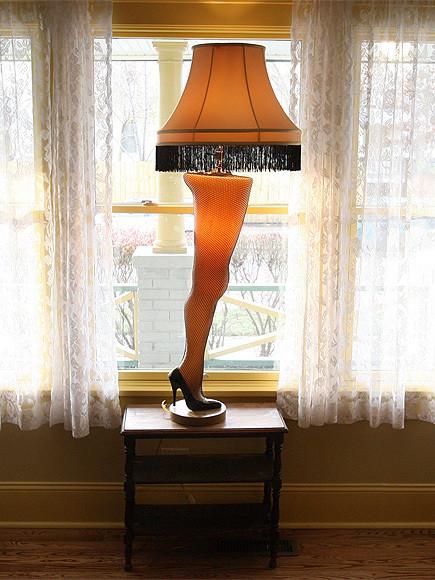 Christmas Story Desktop Leg Lamp  A Christmas Story Leg Lamp Stolen From Store