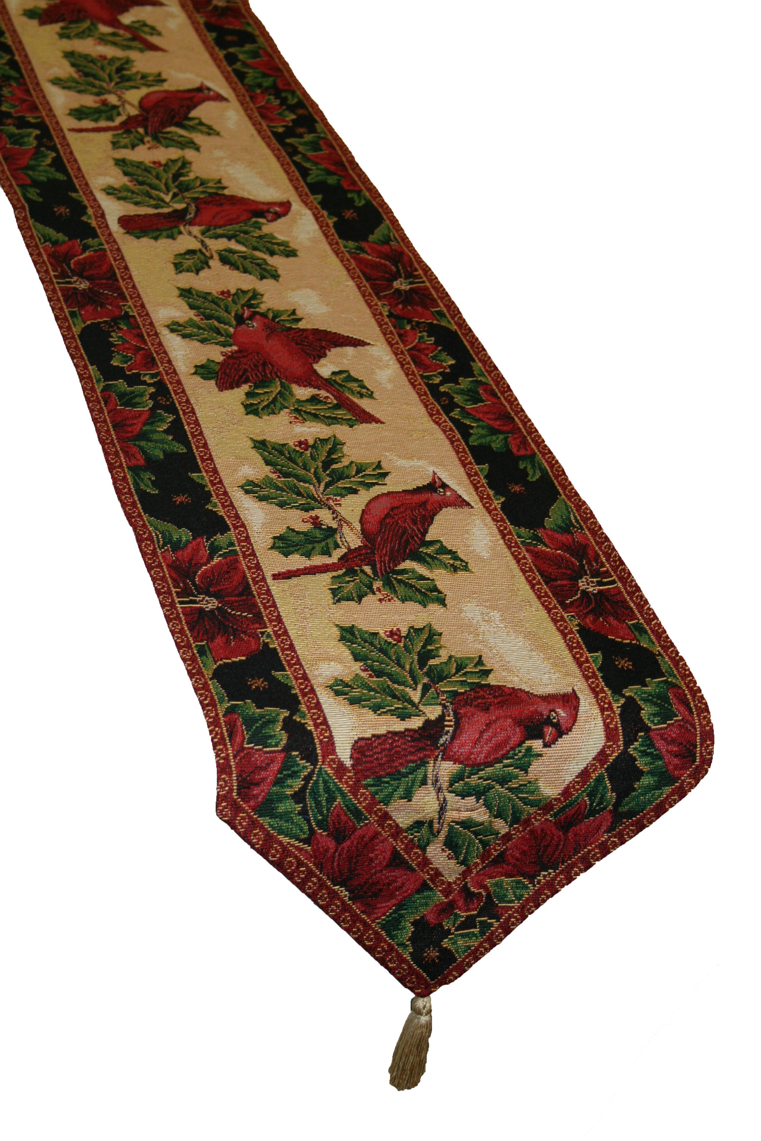 Christmas Table Runner  Violet Linen Decorative Christmas Tapestry Table Runner