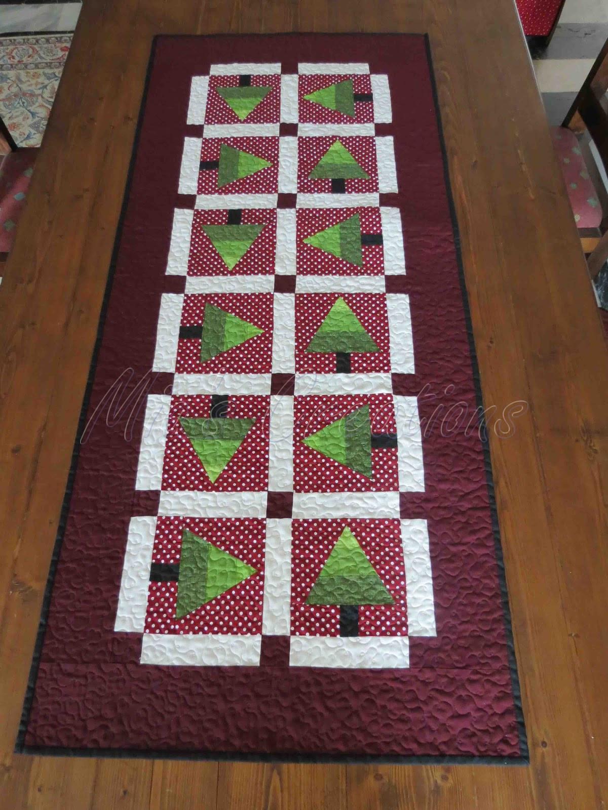 Christmas Table Runner  Mia s Creations Reversible Christmas Table Runner