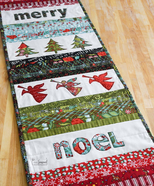 Christmas Table Runner  Quilted Christmas Table Runner The Seasoned Homemaker