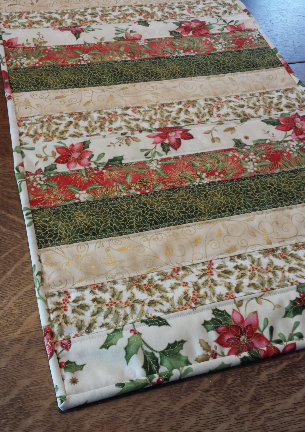Christmas Table Runner  Quilted table runner Christmas table runner holiday table