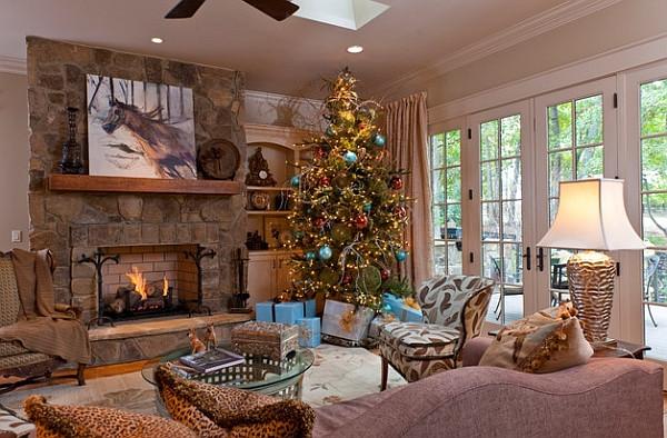 Christmas Tree By Fireplace  Christmas Tree Ideas How to Decorate a Christmas Tree