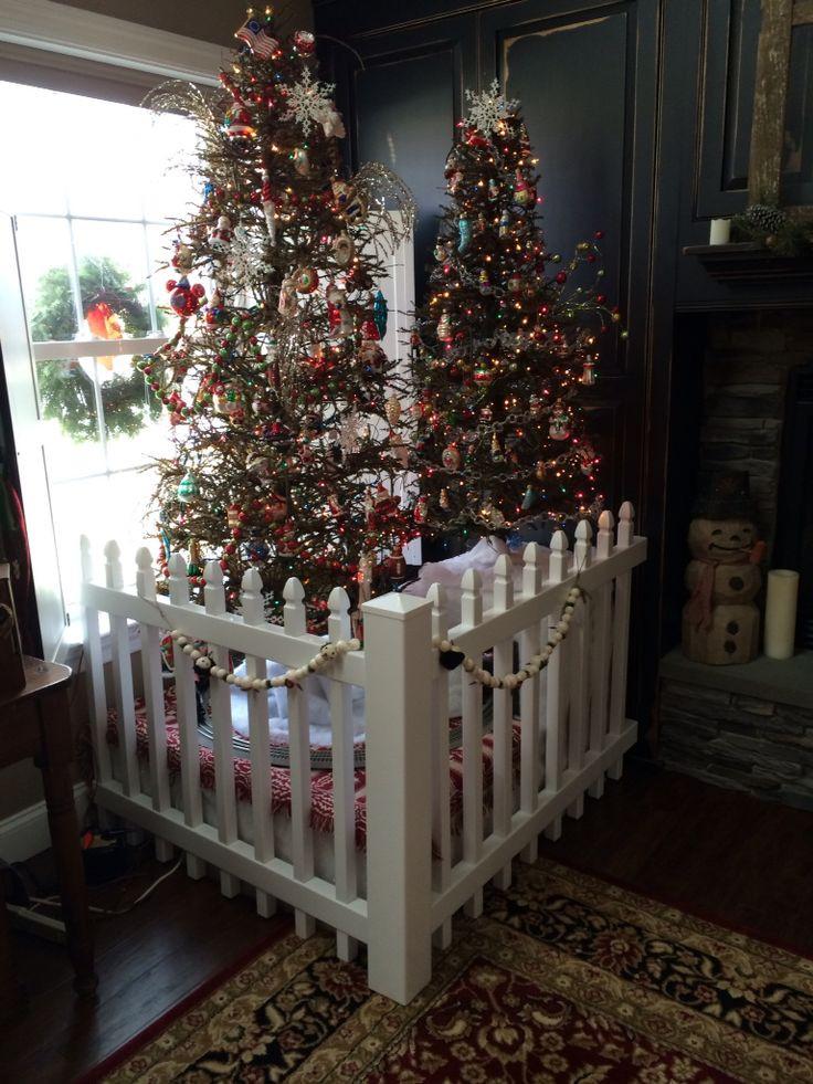 Christmas Tree Fence Indoors  25 unique Christmas tree fence ideas on Pinterest