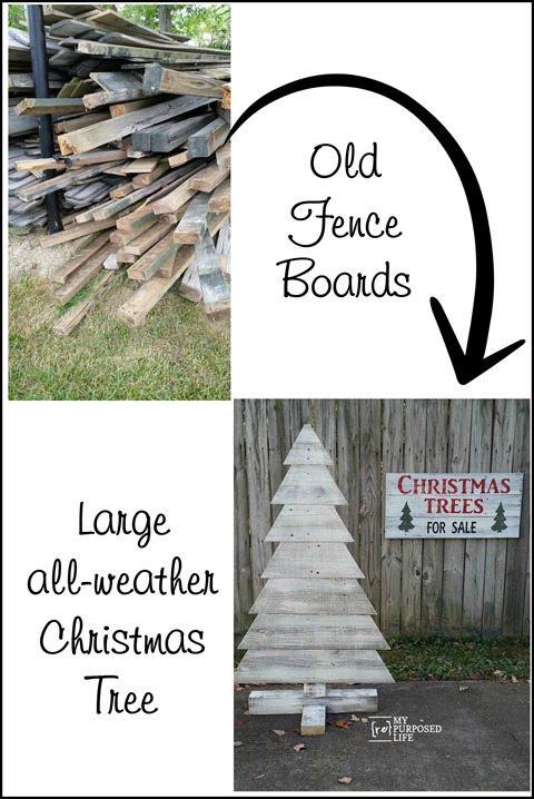 Christmas Tree Fence Indoors  Pallet Christmas Tree My Repurposed Life