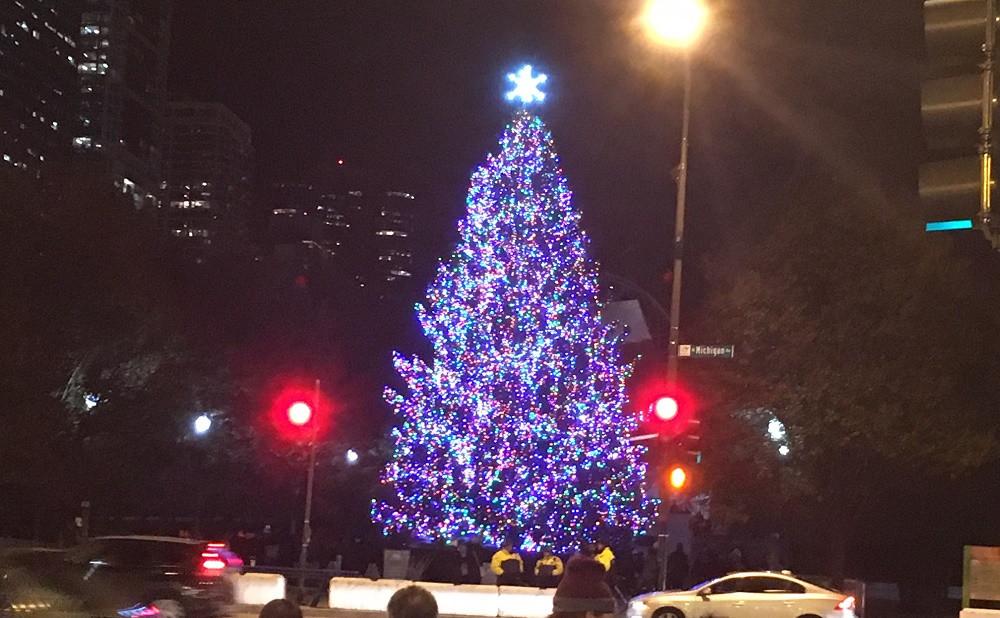 Christmas Tree Lighting Chicago 2019  Millennium Park Christmas Tree Lighting Nov 16 Chicago