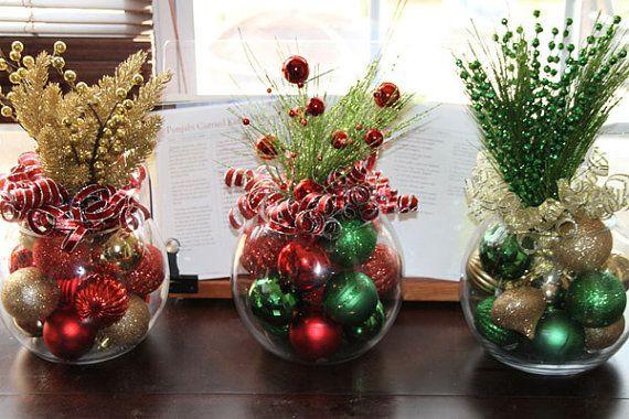 Company Christmas Party Ideas On A Budget  Christmas Centerpiece Set of Five Christmas Centerpieces