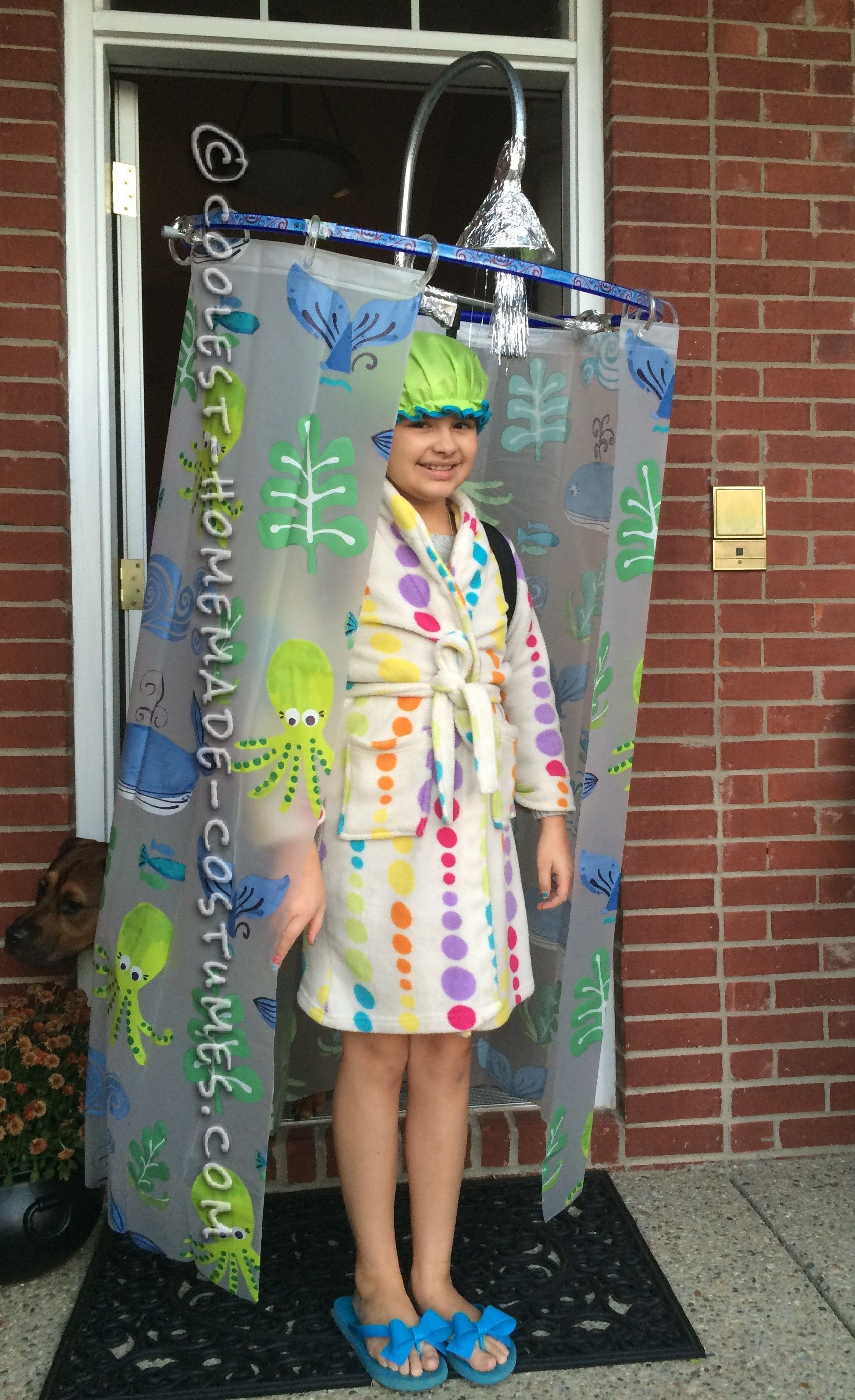Cool DIY Halloween Costumes  Cool DIY Costume Idea Shower Curtain Costume