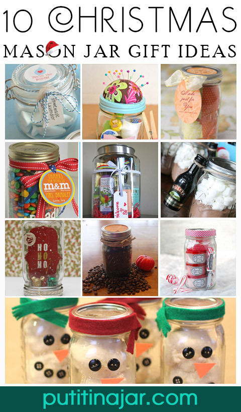 Craft Ideas For Christmas Gift  10 Christmas Cookies & Mixes in Mason Jars