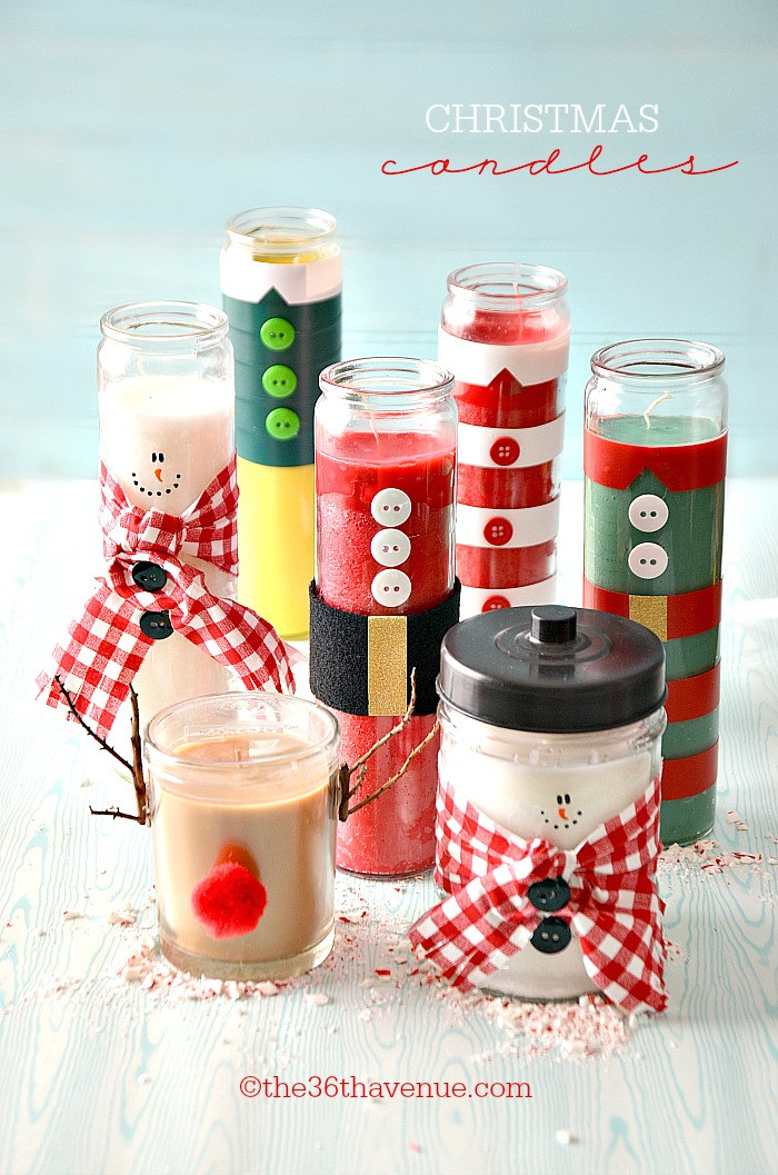 Craft Ideas For Christmas Gift  Christmas Gifts DIY Candles The 36th AVENUE