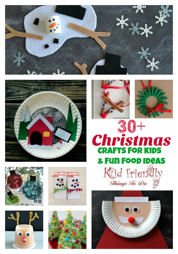 Crafts For Kids To Do At Home  Over 30 Easy Christmas Fun Food Ideas & Crafts Kids Can Make